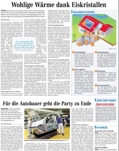 Zürichsee-Zeitung: Wohlige Wärme dank Eiskristallen