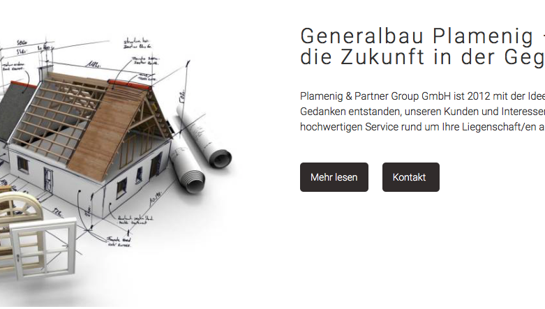 Plamenig & Partner Group GmbH – Webseiten Re-Design ist online!
