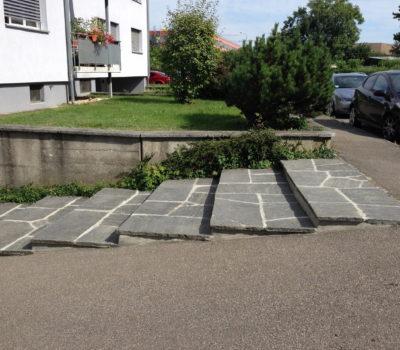 Naturstein: Granitbodenplatten MFH – Verwaltung