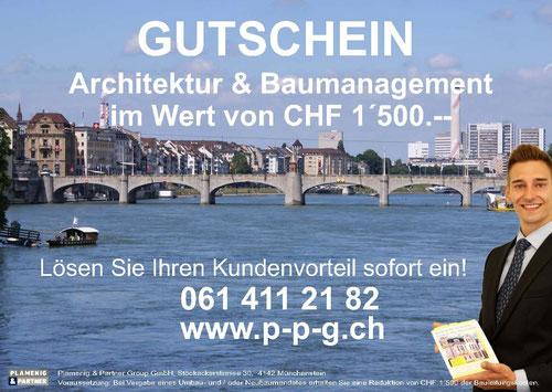 Gutschein: Architektur & Baumanagement im Wert von CHF 1'500.–